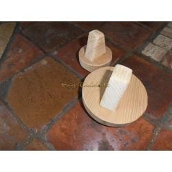 Talocha de madera redonda Grande