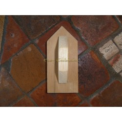 Talocha de madera con punta