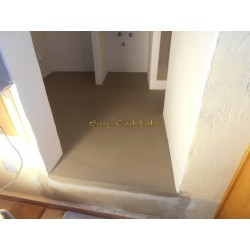 Natural isolating floor coating, natural beton cire, like polished concrete,