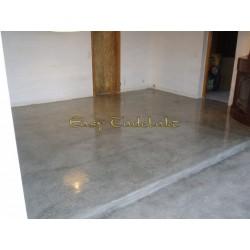 Natural isolating floor coating 25Kg. White, like natural béton ciré or pilished concrete