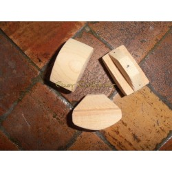 Wooden half moon trowel Big