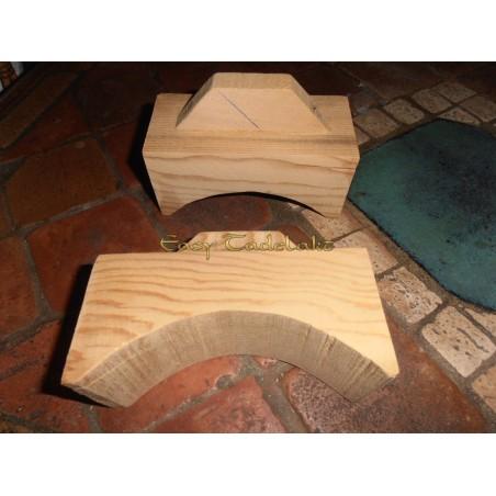 Talocha de madera curva, Grande