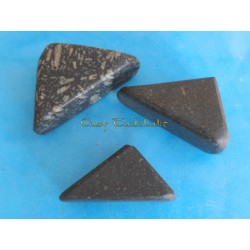 Tadelakt polish stone triangle, big