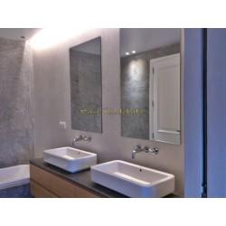 Tadelakt Basico im Badezimmer, in zwei Farben